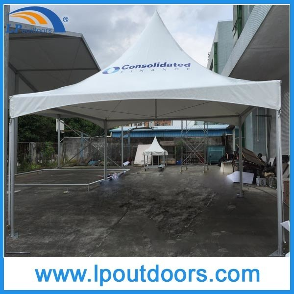 Outdoor High Peak Aluminum Frame Digital Imprint PVC Trade Show Marquee