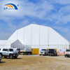 High level polygon marquee temporary workshop building for horse riding