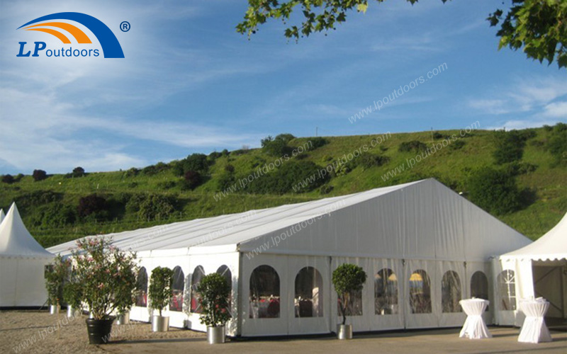 Outdoor Aluminum White PVC Wedding Marquee Tent For 600 People
