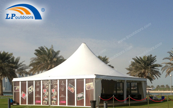 The aluminium pagoda tent which is convenient to build is a great choice for holding outdoor wedding
