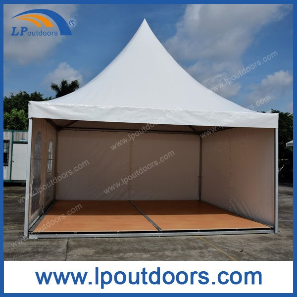 5X5m Outdoor Aluminum Gazebo Pagoda Tent with Wood Flooring for Wedding