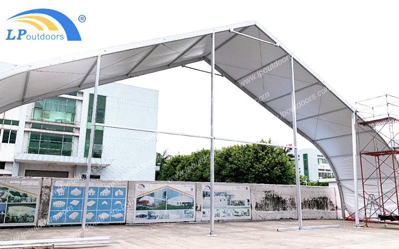 Aluminum 25m Large Curved Sports Tent For Outdoor Event
