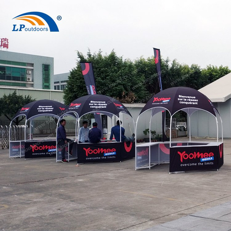 Dia 3m Hexagon dome Kiosk Tent for Trade Show
