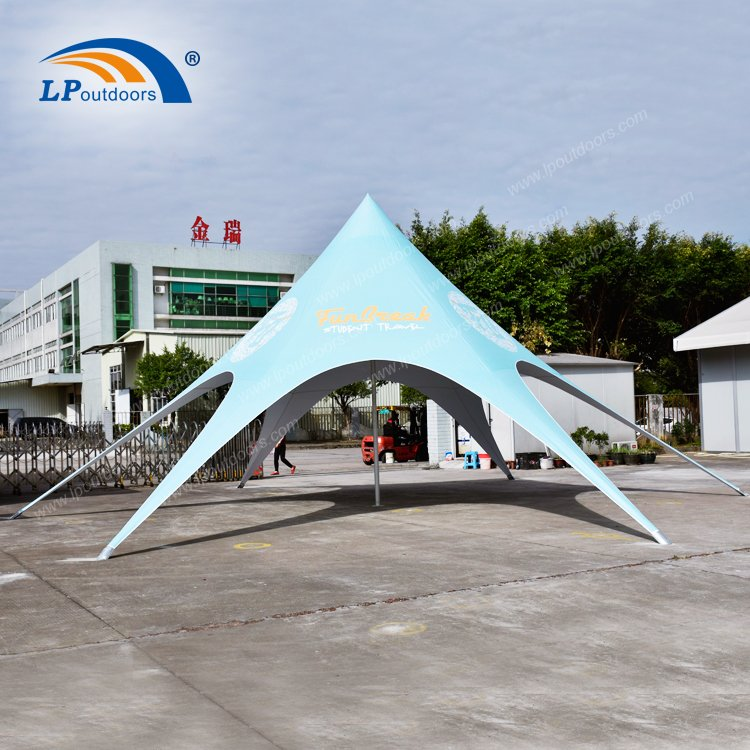 Dia16m Outdoor Full Logo Printing Spider Shape Star Tent