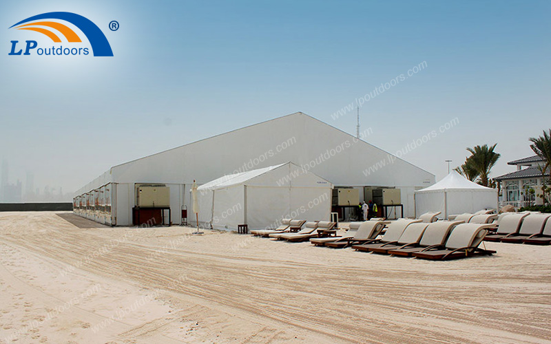Aluminum Outdoor Large Beach Tent With Glass Wall