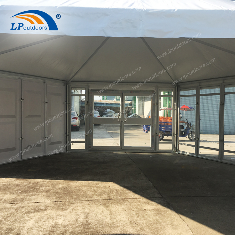 Dia 8m High Peak Pagoda Tent With Glass Floor
