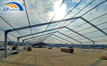 20M Span Temporary Large Mobile Logistics Storage Tent Can Form Personalized Outdoor Warehouse According to Demand