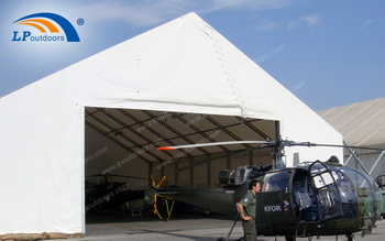 LPOUTDOORS Provides Outdoor Aluminum Frame Military Hangar Canopy with Flame Retardant PVC