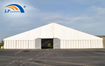 Outdoor Hard Pressed Extruded Aluminum Frame Temporary Warehouse Tent With PVC Cover is Easy to Deal With All Kinds of Bad Weather