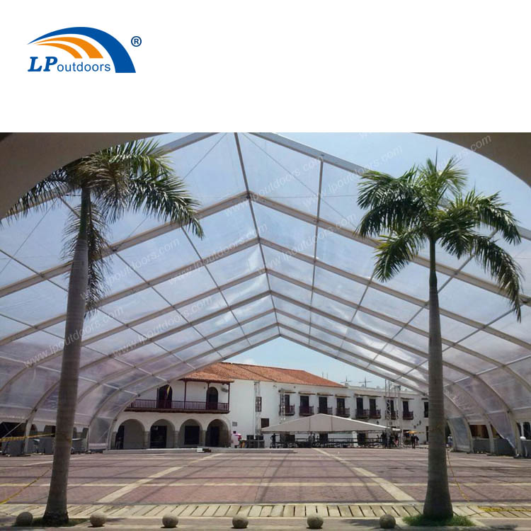 UV protection curved transparent tent temporary party building for musical festival